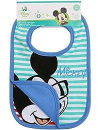 Disney Mickey Babies babero:(paquete doble) 2016 Collection - Azul