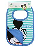 Disney Mickey Babies Bavoirs : lot de 2 - bleu -