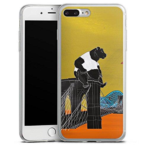 Apple iPhone 8 Plus Slim Case Silikon Hülle Schutzhülle Bär Panda Brücke Silikon Slim Case transparent