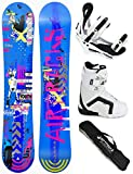AIRTRACKS DAMEN SNOWBOARD SET - BOARD BLUEBIRD 155 - SOFTBINDUNG SAVAGE W - SOFTBOOTS STRONG W 38 - SB BAG