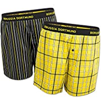 BVB-Boxershort (2er-Pack) (schwarz, gelb)