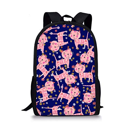 Acuuhasks Cartoon Kätzchen Grundschule Taschen Multifunktions Durable Casual Travel Camping Rucksack,C 806 Oxford