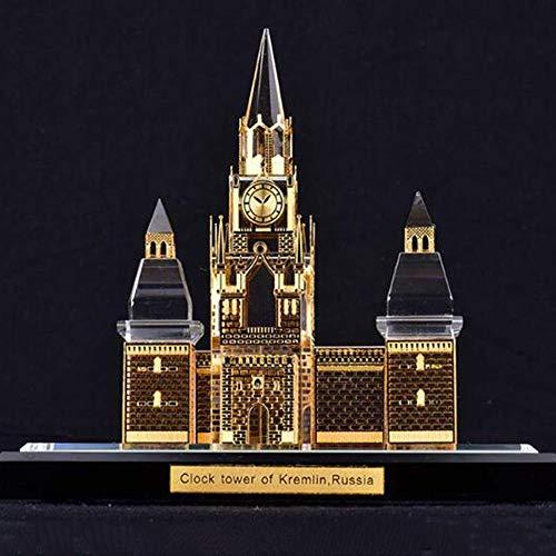DDCYY Statue/Skulptur, Kreml-Architekturmodell, Russisches Wahrzeichen Dekoratives Modell, Kristallstatue, SammlerstüCke, Touristische Souvenirs (12 X 8,5 X 10,7 - Russische Kostüm Traditionelle