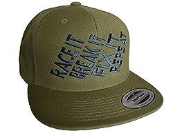 Baddery Petrolhead Industries: Race it Break it Fix it Repeat - Cap für alle Tuning-, Drift-, und Motorsport Fans - Classic Snapback von Flexfit (One Size)