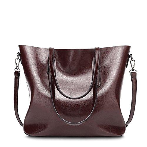 RAN Ms. Cera Di Petrolio In Pelle Borsetta Tracolla Messenger Bag Stile Europeo E Americano Tipo Secchio,E E