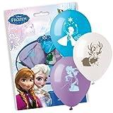 SIAD - Set Colorati Disney Frozen 10 Palloncini, Multicolore, Taglia unica, 33688