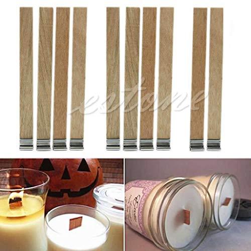 Dekoration Handwerk, Kerze Holz Docht mit Sustainer Tab Kerze Machen Versorgung 10st