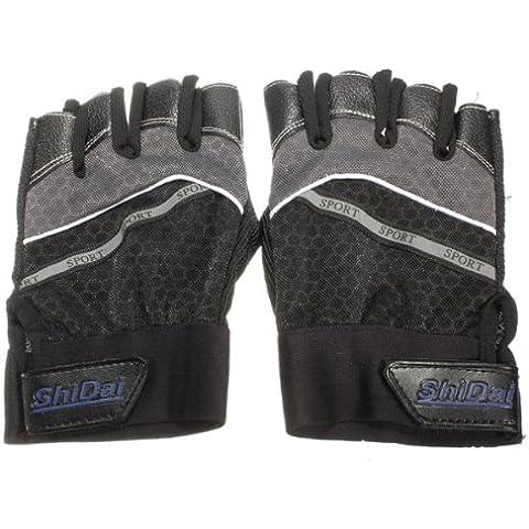 MaMaison007 Ciclismo guantes antideslizante guantes bicicleta corta medio equipo-gris