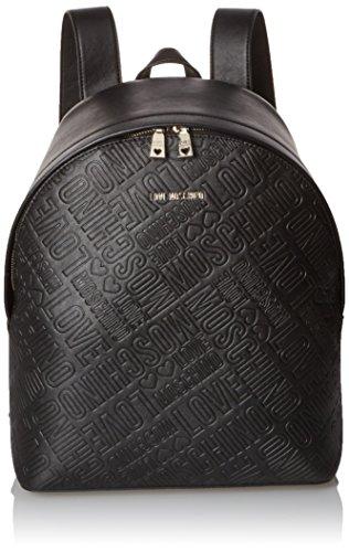 Love Moschino JC4030, Zaino Donna, Nero (Black), 13x40x37 cm (B x H x T)