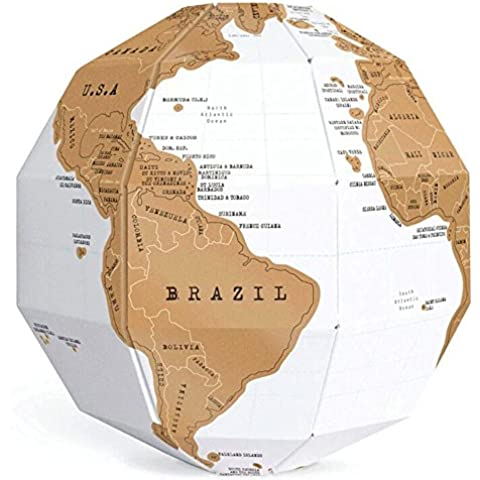 Hightech 3D Mapa del Mundo globo Scratch Globe World Map Scratch Globe World Map