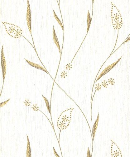 Price comparison product image Belgravia Decor Tiffany Wallpaper GB102 - Textured Italian Foliage Pearl **