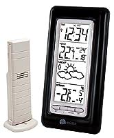 Heure et Date : Radio-pilotées DCF-77 DCF On/Off Fuseau horaire +/- 12 heures Format 24 H Alarme de réveil avec Snooze Prévisions Météo : Prévisions météo par 3 icônes Flèche de tendance Température Intérieure : °C De -9.9 à 37.8°C Résolution : 0.1 °...