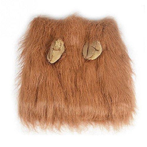 myfei Pet Löwe Mähne Perücke, Fancy Dress Up mit Ohren Hund Kostüm Kleidung Perücken für ET Festival Party, Cosplay, Weihnachten, Ostern, Festival (Elvis Kostüme Kleinkind)