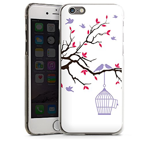 Apple iPhone 5s Housse étui coque protection Oiseau Cage Pastel CasDur transparent