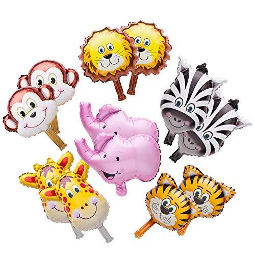 lons Dschungel Safari Tiere Thema Geburtstag Partydekorationen Für Kinder Kinder Hand Gefangen Ballon 12 STÜCKE In Set ()