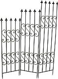 3 tlg. Rankgitter aus Metall Höhe 185 cm Spalier Rankhilfe Rankbogen Kletterhilfe