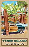 Northwest Art Mall ed-5802klare Kante/Bax Tybee Island Georgien Beach Zugang Print von Künstler Evelyn Jenkins Drew, 27,9x 43,2cm