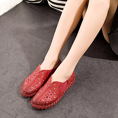 Vogstyle Femmes Chaussures Spring Pure Color Loisirs Flat Art 2 Rot