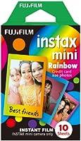 Fujifilm Instax Mini Pellicola, Motivo Arcobaleno, Confezione da 10 Pezzi
