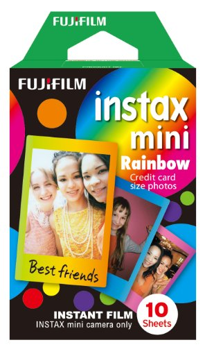 Fujifilm Instax Mini Rainbow Film 10 poses