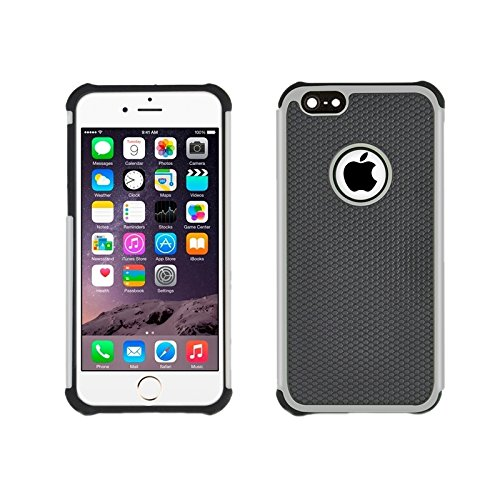 Phone case & Hülle Für IPhone 6 Plus / 6S Plus, Fußball Textur Kunststoff Fall ( Color : Pink ) Grey