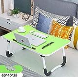 SJ JS Bettish - Tavolino per PC Portatile con scanalature per aerazione, 60 x 40 cm, Colore: Verde