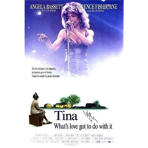 Qué es el amor tiene que ver con su cartel de película española - 69 cm x 102 cm 27 x 40