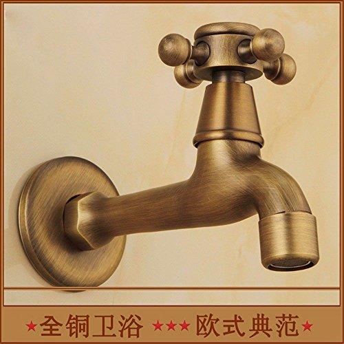 Mmynl rubinetto bagno lavabo rubinetto moderno becco dell'erogatore della lavatrice dell'oggetto d'antiquariato di rame spazzolato a mano europeo del becco, b rubinetto per lavandino bagno