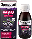 Sambucol Natural Black Elderberry for Kids with Vitamin C; immune system booster; cold and flu remedy - 120ml liquid
