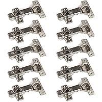 10 x SO-TECH® Topfband Topfbänder T45 Eckanschlag mit Dämpfer + Kreuzplatte Scharnier Scharniere Topfscharniere (Einzeln und als 6er, 10er, 20er oder 30er Set erhältlich!)