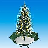 Weihnachtsbaum mit Schneefall:
