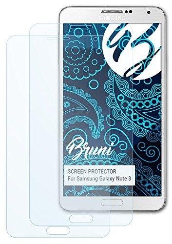 Bruni Samsung Galaxy Note 3 Folie - 2 x glasklare Displayschutzfolie Schutzfolie für Samsung Galaxy Note 3