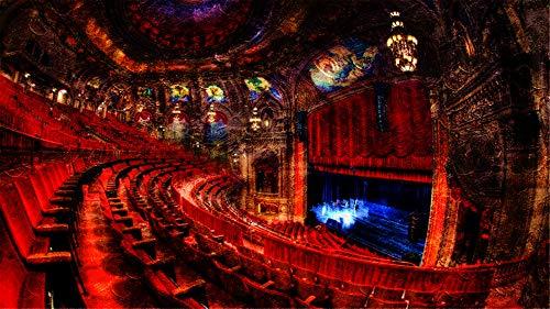 WAZHCY Malen nach Zahlen Wohnkultur Chicago Theatre Szene Red Stühle Raum für Erwachsene DIY 40X50CM Ohne Rahmen