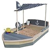 Sandkasten Boot Krabbe XXL aus Holz - Schiff - SUN