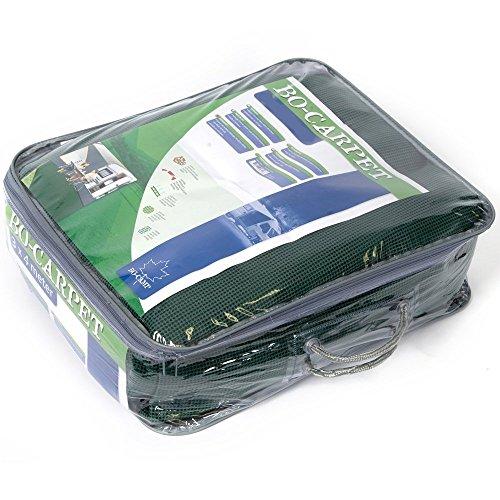 Bocamp Zeltteppich in grün, luftdurchlässig, strapazierfähig, schimmelfrei: Vorzeltteppich Campingteppich Zeltboden Vorzeltboden Camping (3x4m)