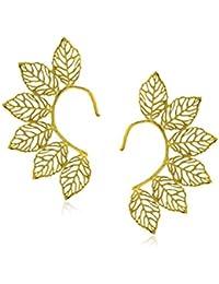 Spargz Designer Gold Plated Brass Metal Cuff Earring For Women AIER 427