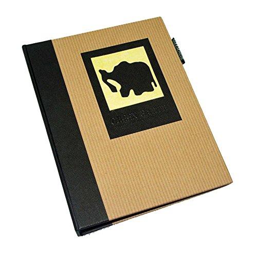 Dörr Earth Elefant mini Fotoalbum Einsteckalbum für 36Fotos, Schwarz, 6X 4-Zoll (4x6 Fotoalbum)
