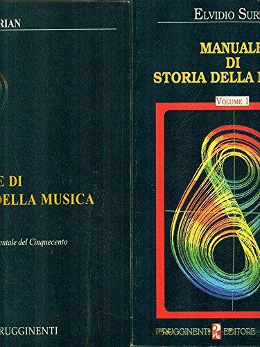 Manuale di storia della Musica - 2 volumi