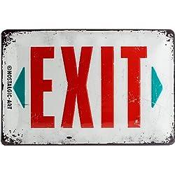 Cartel de Chapa 20x30 cm Exit