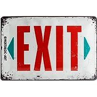 Nostalgic-Art Cartel de chapa 20x30 cm Exit