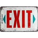 Nostalgic-Art 22218 Achtung - Exit | Retro Blechschild | Vintage-Schild | Wand-Dekoration | Metall | 20x30 cm