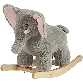 Animal Rocker Chair For Baby, Kids, Toddler, Children With Plush Seat ( Elephant)