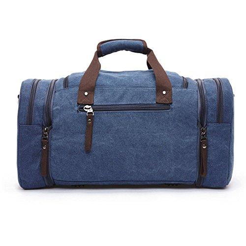 MOYUN Unisex Canvas Groß Handtasche Schultasche Reisetasche Handgepäck Sporttasche 40L blau