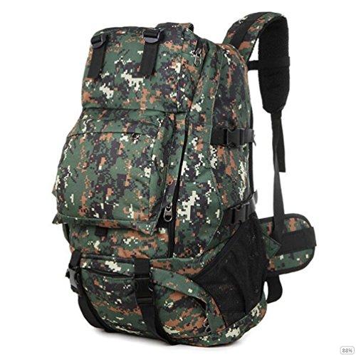 GOUQIN Outdoor Rucksack Klassische Mode Outdoor Klettern Rucksäcke Taschen 40 L Wasserdicht Wandern Camping Paket C