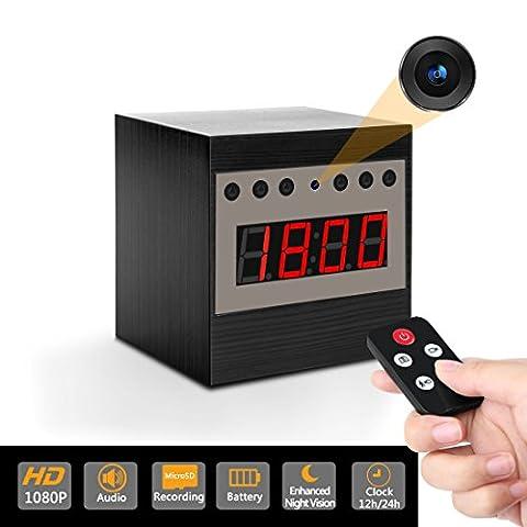 Enhanced Night Vision HD caché Nanny Spy Clock caméra libre 16 Go SD + lecteur SD