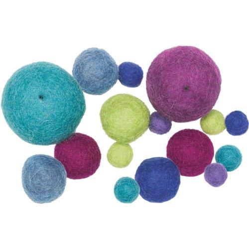 Dimensions Maße Näharbeiten Feltworks, Cool Ball Sortiment (16Stück) -