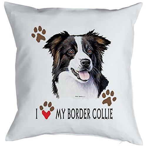 Cani cuscino decorativo originale: I Love My Border Collie:: kuscheliges come praesent