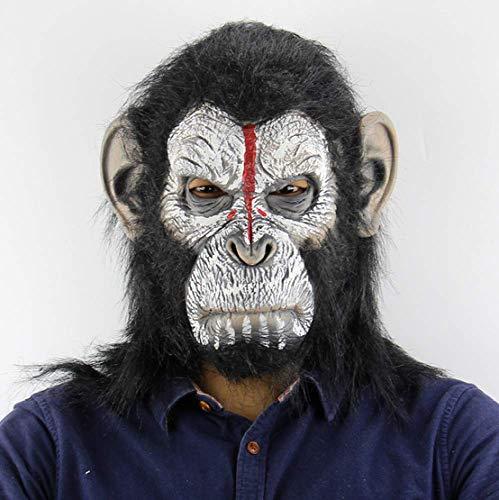 Gorilla Kostüm Lustige - FENGZ Halloween Maske Masken Mask Gorilla Monkey Adult Full Face Lustige Maske Latex Halloween Party Cosplay Kostüm Maskerade