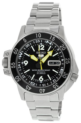 Seiko 5 Sports Automatic Black Face & Bezel SKZ211J1