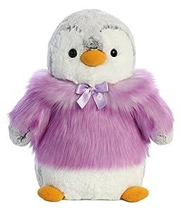 Aurora World 74046 Pompom - Abrigo pingüino, Color Gris y Morado
